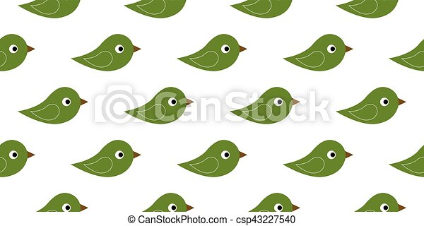 seamless icon birds - csp43227540