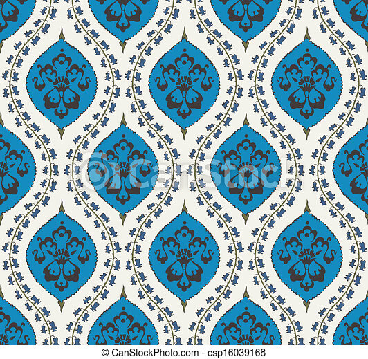 Seamless Islamic Floral Pattern