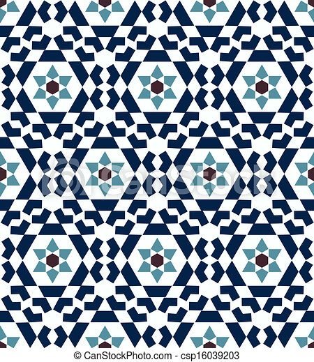 Seamless Islamic Geometric Pattern   Csp16039203