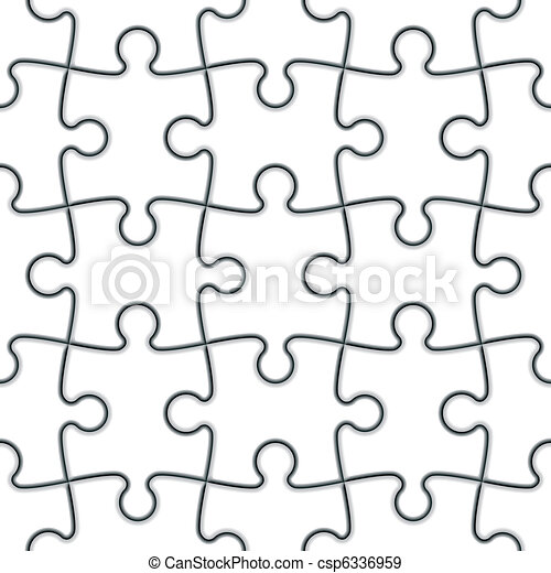 Seamless Jigsaw Puzzle - csp6336959