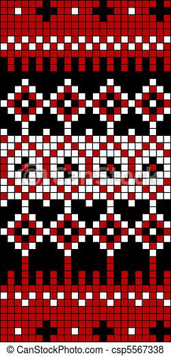 Seamless Knit Pattern Block 1 - csp5567338