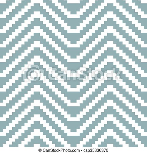 Seamless knitted pattern of stair step horizontal zigzag