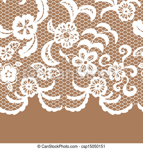 seamless lace border invitation card seamless lace border vector