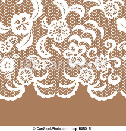 Seamless lace border. Invitation card. - csp15050151