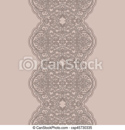 Seamless Lace Ribbon Pattern Vectors