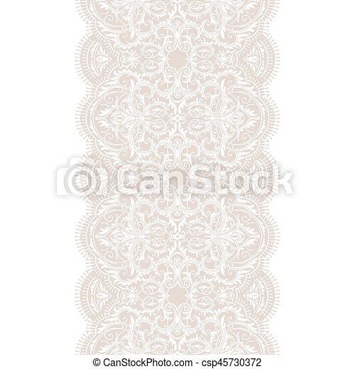 Seamless Lace Ribbon Pattern Vectors Illustration