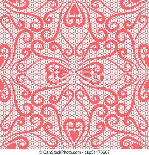 Seamless lace pattern - csp51176667