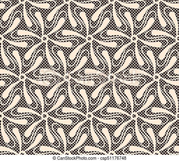 Seamless lace pattern - csp51176748