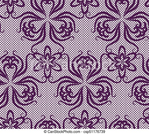 Seamless lace pattern - csp51176739
