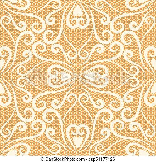 Seamless lace pattern - csp51177126