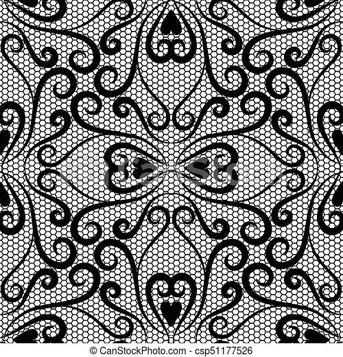 Seamless lace pattern - csp51177526