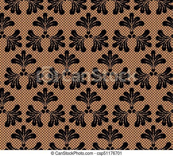 Seamless lace pattern - csp51176701