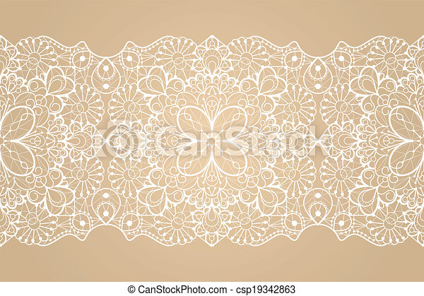 Seamless Lace Ribbon Clip Art Vector