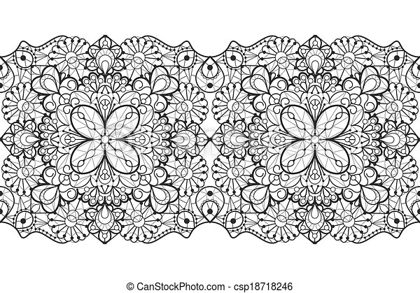 Seamless Lace Ribbon Eps Vector