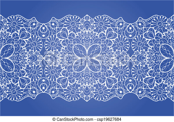 Seamless Lace Ribbon Eps 8 Vector Illustration