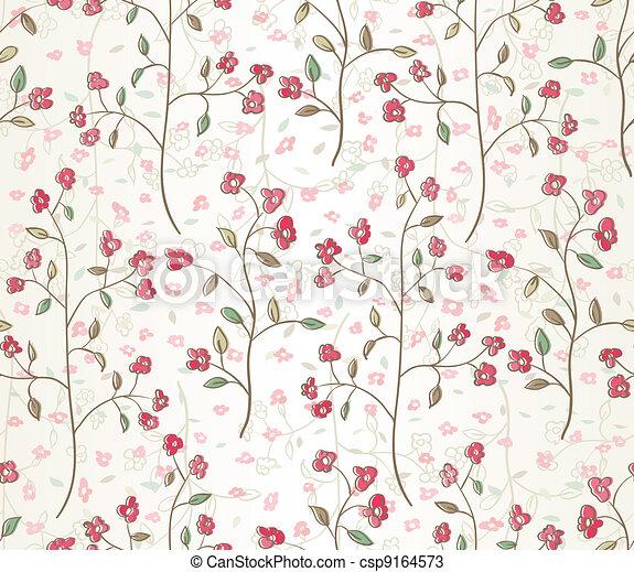 seamless leaves wallpaper - csp9164573