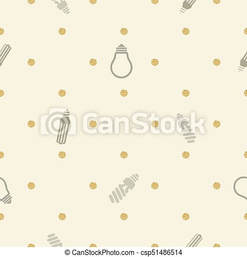 seamless lighting with gold dot glitter pattern background - csp51486514