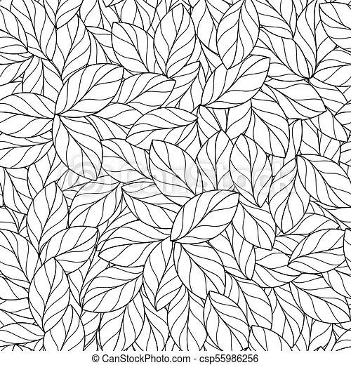 Seamless Linear Leaves Pattern
