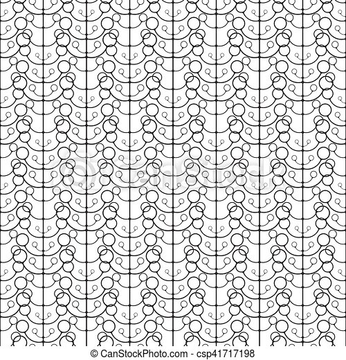 Seamless linear pattern with thin poly-lines on white background. - csp41717198