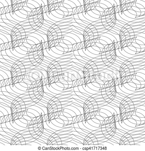 Seamless linear pattern with thin poly-lines on white background. - csp41717348