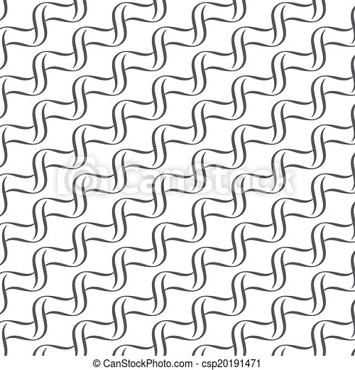 Seamless lines with wavy vector pattern background - csp20191471