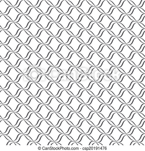 Seamless lines with wavy vector pattern background - csp20191476