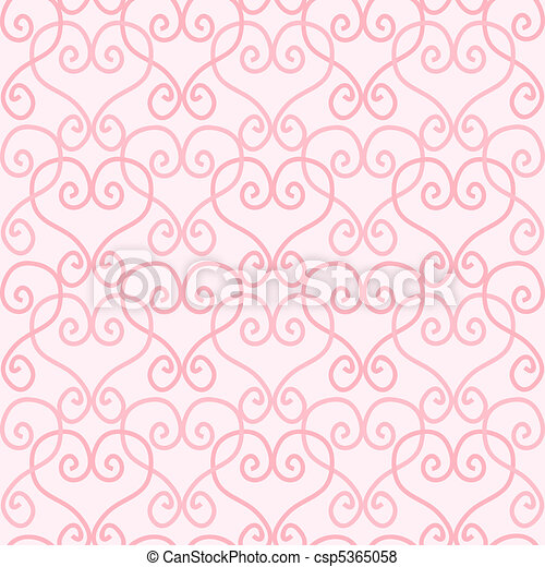 Seamless Linked Heart Background - csp5365058