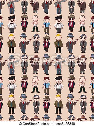 seamless mafia pattern  - csp6435848