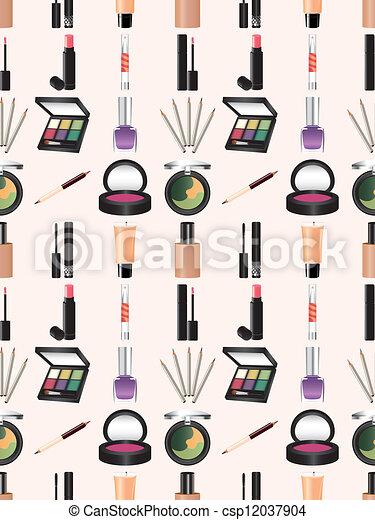 seamless makeup pattern cartoon vector illustration book cover clip art free book cover clip art free border