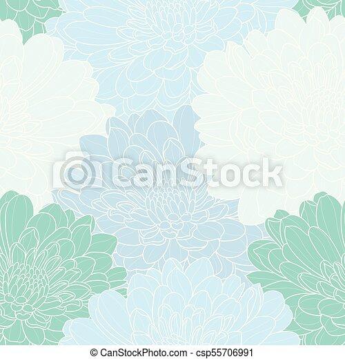 seamless, mano, fondo., vettore, floreale, disegnato - csp55706991