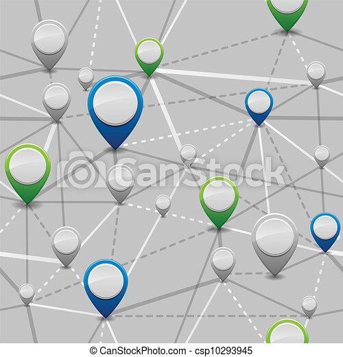 seamless, marqueurs, emplacement - csp10293945