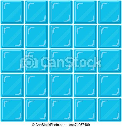 Seamless Modele Mur Clair Resume Salle Bains Conception Vecteur Mosaique Tuiles Verre Illustration Bleu Ou