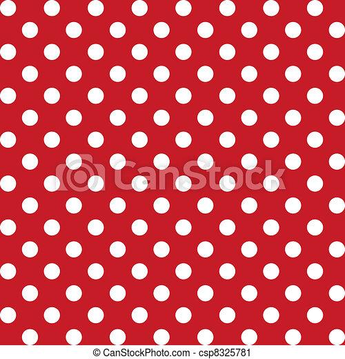 seamless, modèle, points polka, grand - csp8325781