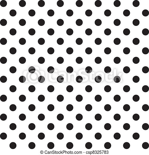 seamless, modèle, points polka, grand - csp8325783