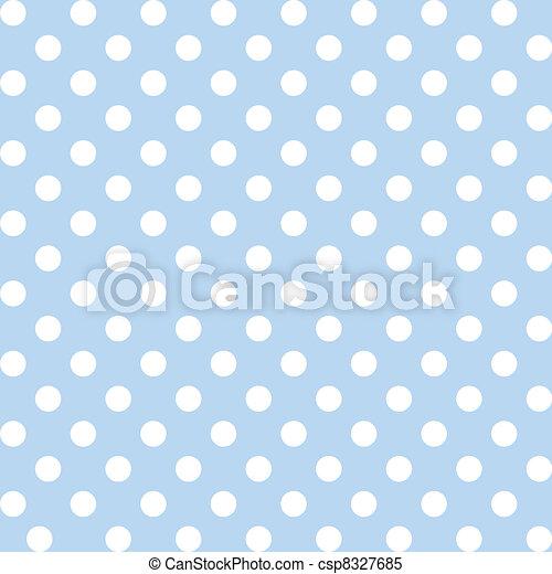 seamless, modèle, points polka, pastel - csp8327685