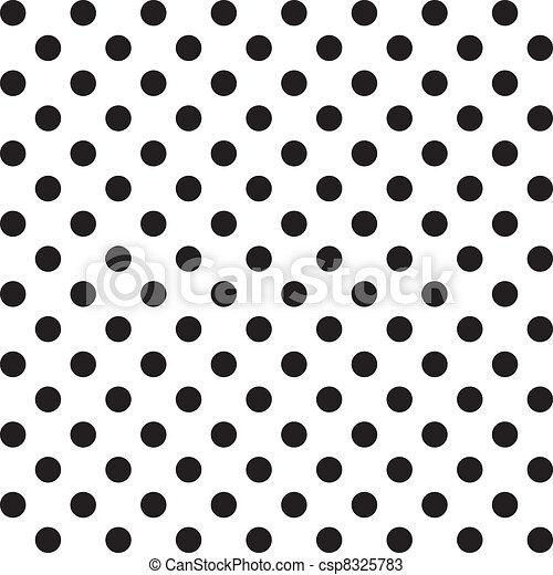seamless, model, polka punten, groot - csp8325783