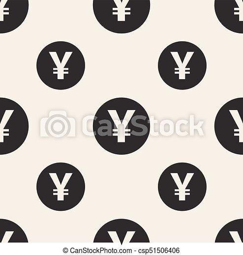 Seamless Monochrome Currency Symbol Pattern Background Seamless