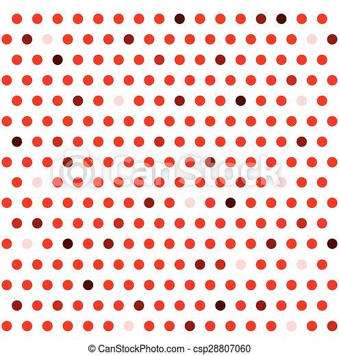 seamless., motívum, elvont, polka, háttér., retro, geometriai, pont - csp28807060