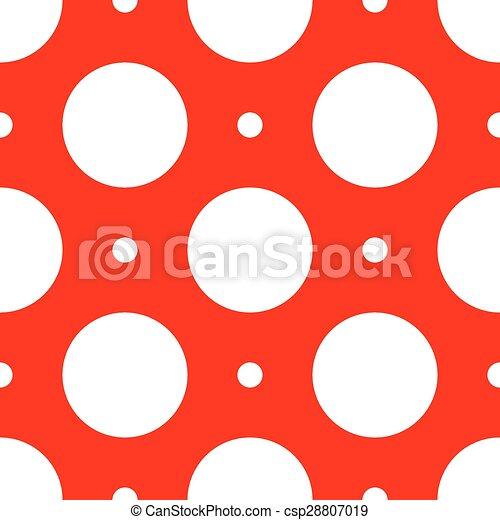 seamless., motívum, elvont, polka, háttér., retro, geometriai, pont - csp28807019