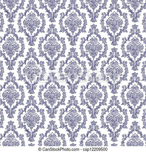 Seamless Navy Blue Amp White Damask Delicate Lace Navy Blue