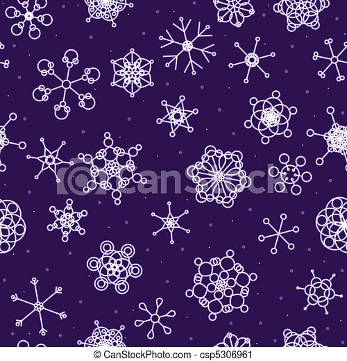 Seamless neon snow background - csp5306961