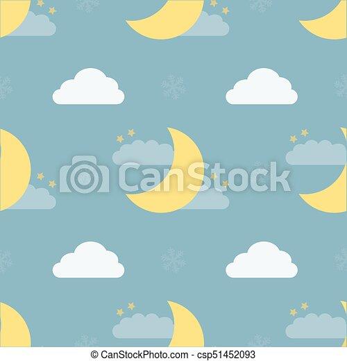 seamless night sky pattern - csp51452093