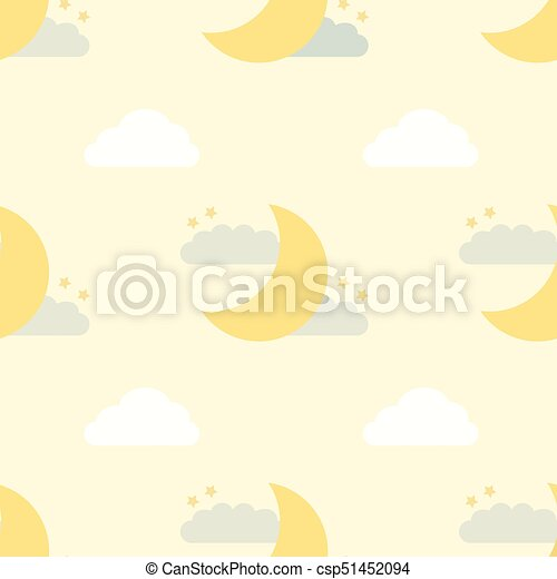 seamless night sky pattern - csp51452094