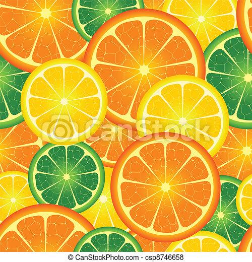 seamless orange  background - csp8746658