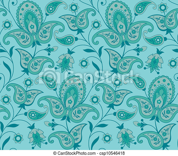 Seamless ornate background - csp10546418