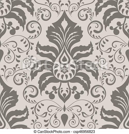 Seamless Ornate Vintage Wallpaper Pattern