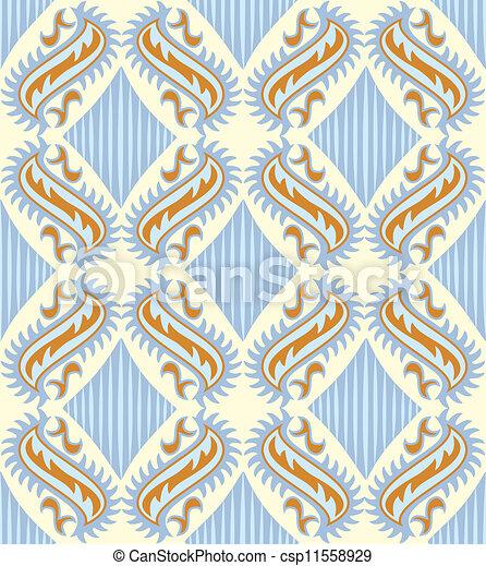 Seamless paisley pattern - csp11558929