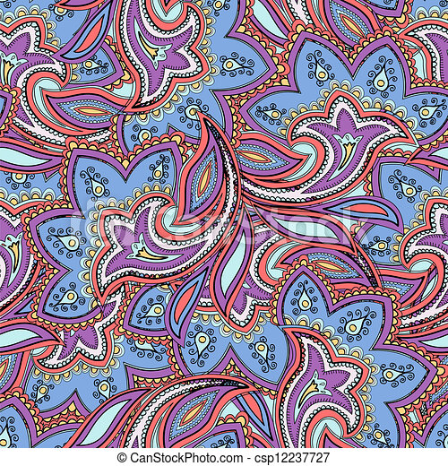 Seamless paisley pattern - csp12237727