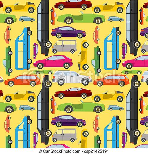 seamless., passageiro, fundo, car - csp21425191