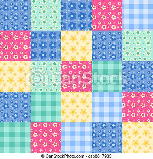 Seamless patchwork pattern 4. - csp8817933